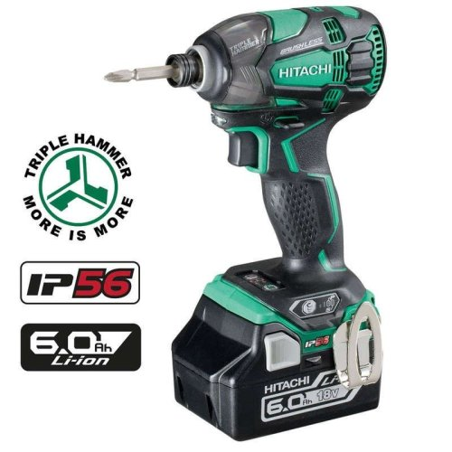 Hitachi WH18DBDL2/JX 18v Brushless Impact Driver 2x6ah Batts