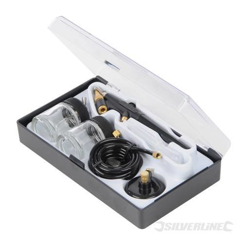 22ml 6 Piece Airbrush Hobby Kit - Silverline 380158 6pce Pieces -  hobby kit airbrush silverline 380158 6 6pce 22ml pieces