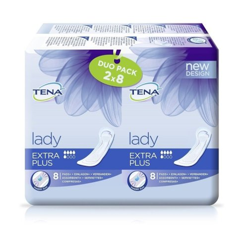 TENA Lady Extra Plus Duo Pack (2 x 8 Pack)
