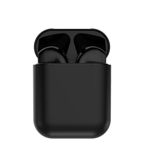 i12 Wireless Bluetooth Stereo Earphones With Mic - Black
