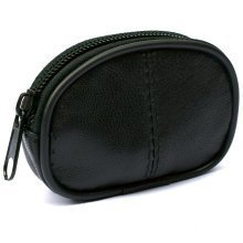 Mens Ladies Small Genuine REAL Leather Key Holder Coin Purse Zip Pouch