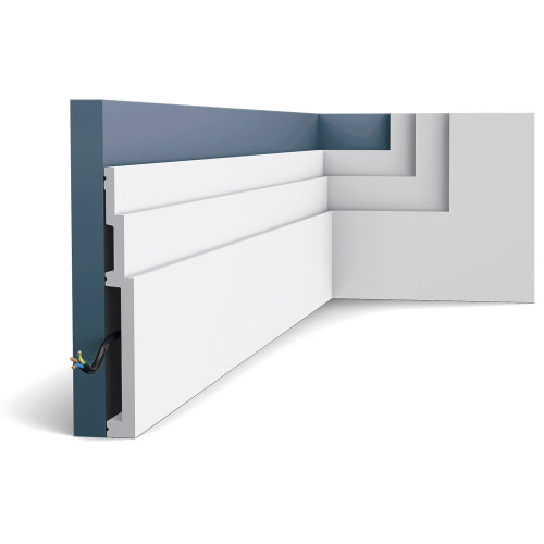 Orac Decor SX181 MODERN HIGH LINE Skirting Decorative moulding Baseboard 2 m