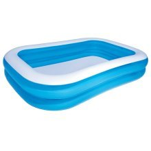 Bestway Inflatable Pool Blue/White 262 x 175 x 51 cm 54006