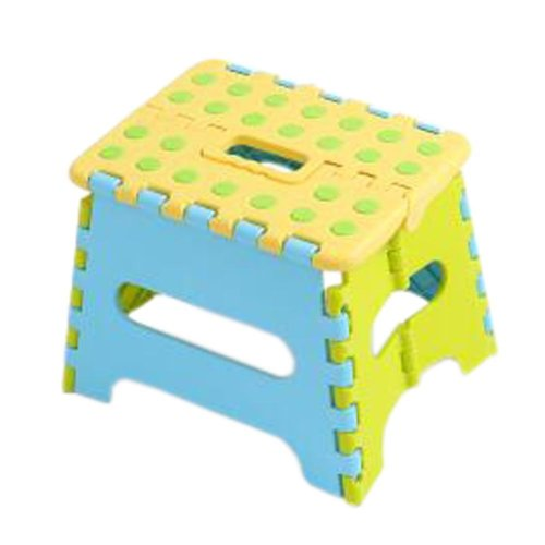 Creative Plastic Foldable Step Stool Portable Folding Stools Stepstool for Kids & Adults, No.2