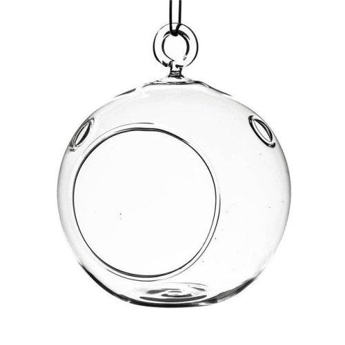 Athenas Garden HCH0103 3 in. Clear Round Hanging Terrarium Globe, Set of 2