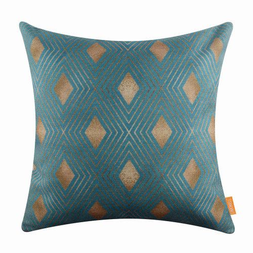 "18""x18"" Fashion Geometry Triangle Burlap Pillow Cover Cushion Cover"