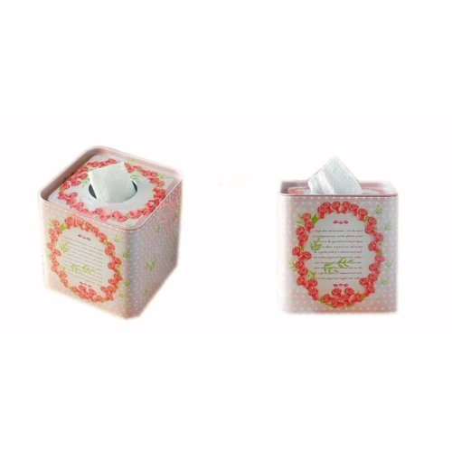 [Wreath] Iron Box Roll Paper Tin Box Toilet and Tissue Paper Holder(49)