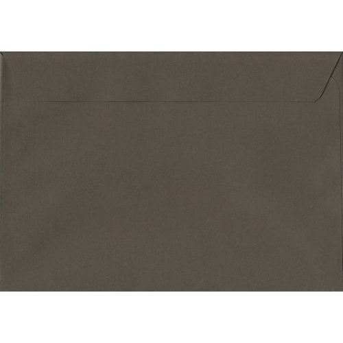 Graphite Grey Peel/Seal C5/A5 Coloured Grey Envelopes. 120gsm Luxury FSC Certified Paper. 162mm x 229mm. Wallet Style Envelope.