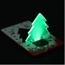 LED Christmas Tree Folding Pocket Card Night Light
