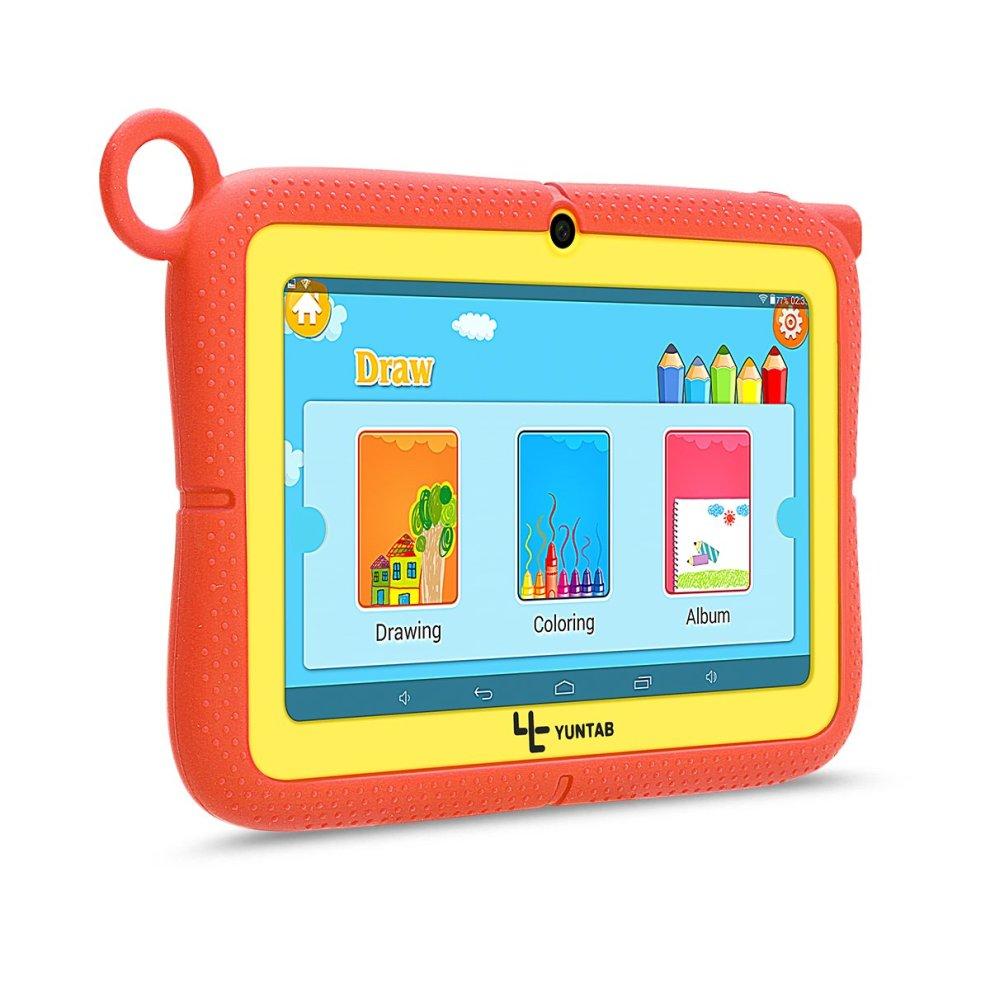 Yuntab Kids Tablet Q88R 7 Inch Allwinner A33,1 5Ghz Quad Core Android 4 4  Tablet PC,512MB+8GB,HD 1024x600,Dual Camera,WiFi,Bluetooth,3D Game,TF