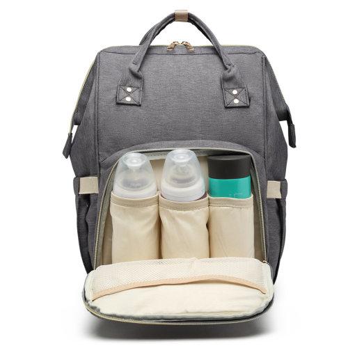 Miss Lulu Baby Diaper Nappy Bag Changing Backpack School Bag Dark Grey