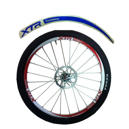 [BLUE]Unique Colour XTR 12 Pics Reflective Bike Rim Sticker Wheel Decal Sticker