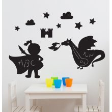 Suncrest FunToSee Magic Dragon Kingdon 11 Chalkboard Wall Stickers