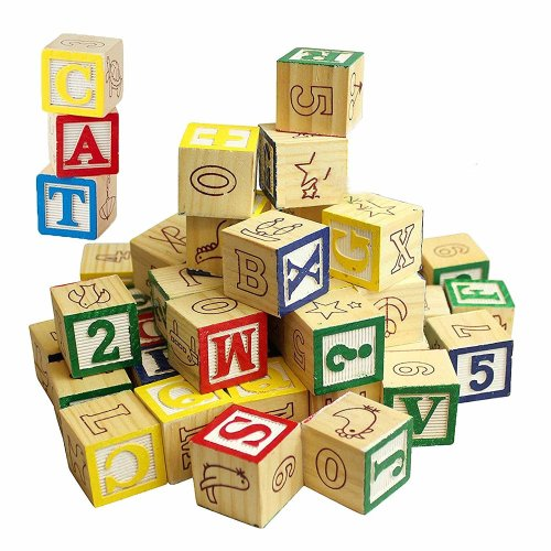 30pc Wooden Alphabet Block Set | Wooden Alphabet Blocks
