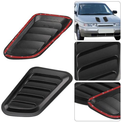 2x Universal Car Decorative Air Flow Intake Scoop Turbo Bonnet Vent Cover Hood