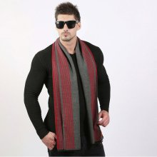 Business Warm Stripe Scarves For Men