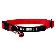 Trixie Nylon Cat Collar With Adres Bracket. - 4180 Safety Bell New My Home -  cat collar 4180 safety bell new my home trixie nylon quality kitten
