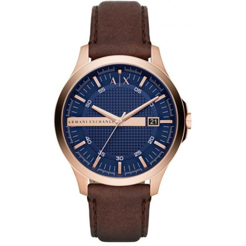Armani Exchange Watch AX2172 Brown Leather Man Watch Date