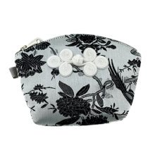 Set of 2 Traditonal Chinese Embroidered Jewelry Coin Pouch Bag Wallet Purses   A