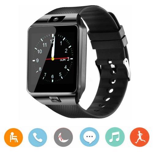 Smart Watch, CanMixs DZ09 Bluetooth 4.0 Mutifunctional Wristwatch with Camera Pedometer Anti-lost Tracker Stopwatch Message GSM Music Player...