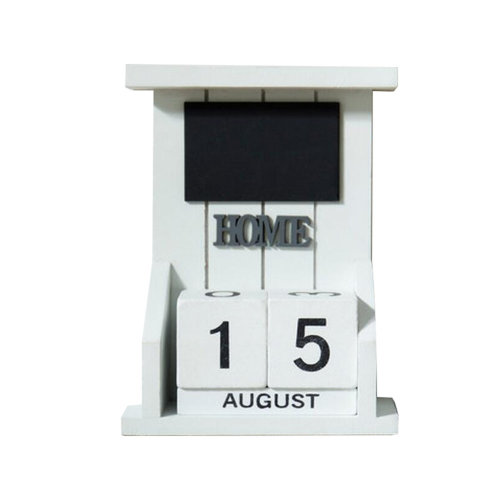 Wooden Permanent Calendar Creative Calendar Decoration For Home / Office -A5