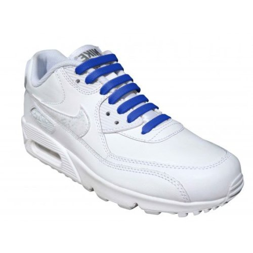 Blue Elastic Silicone No Tie Shoelaces For Trainers