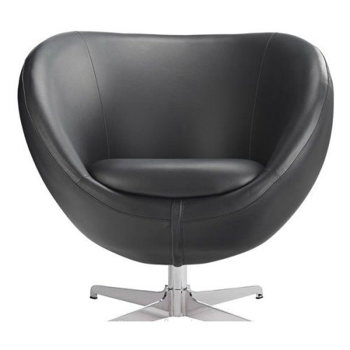 Balisy Modern Swivel Chair in Black Contemporary Funky Design