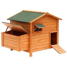 PawHut Chicken Poultry Coop Hen House Cage (134.5L x 90W x 99.5H cm)