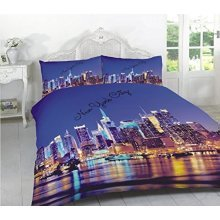 New York City 3D Effect Duvet Cover Bedding Set
