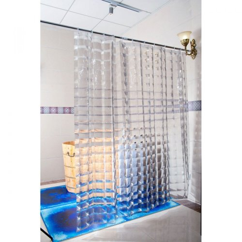 Duschy Shower Curtain 3D Transparent On OnBuy