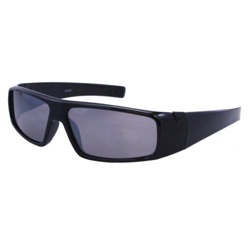 +1.00 Black Tinted Reading Sunglasses Designer Style Wraparound Mens 100% UV Protection