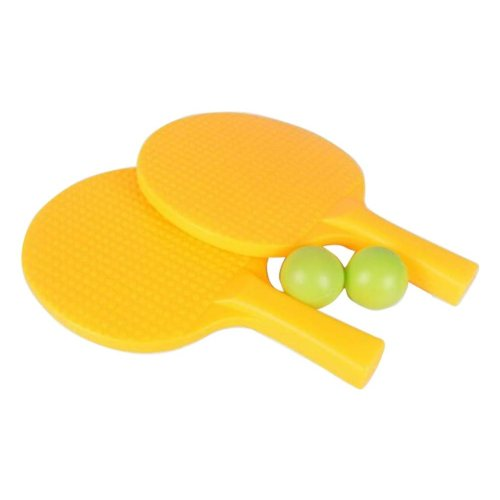 Children Table Tennis Racket Leisure Sports Toy Set-Yellow