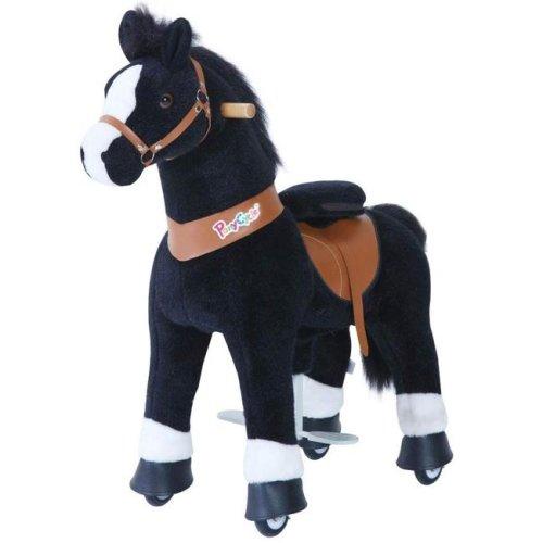 PonyCycle U326 Ride-On Black Horse with White Hoof - Small