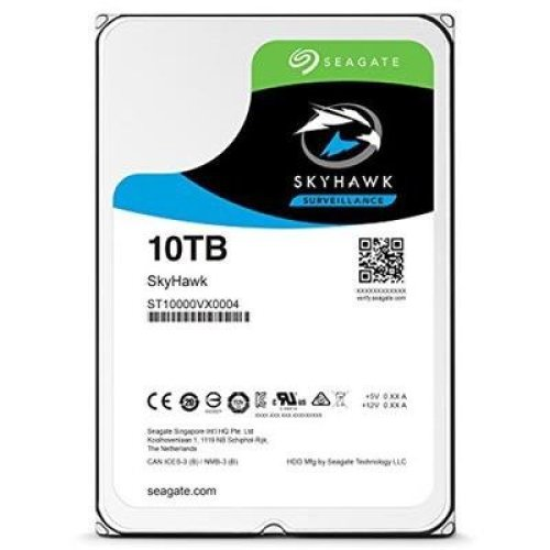 Seagate SkyHawk 10 TB 3.5 Inch Internal Hard Drive for 1-64 Camera Surveillance Systems (256 MB Cache Up to 210 MB/s, 180 TB/Year Workload Rate)