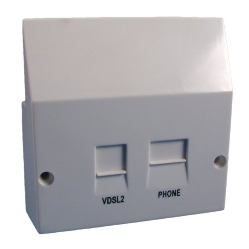 Solwise VDSL Filtered Faceplate Splitter SIN498 and SIN346 Compliant