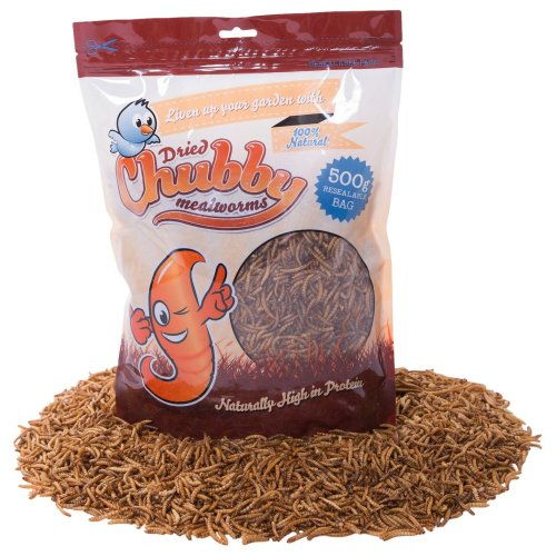 Chubby Mealworms Dried Mealworms, 500 g