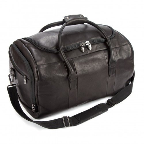 Falcon Colombian Leather Holdall - FI6707 Black