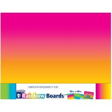 "Posterboard 22""X28"" 2/Pkg-Rainbow"