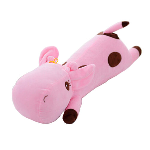 Pink Deerlet Stuffed Plush Toy Creative Plush Doll Comfortable Cushion Pillow
