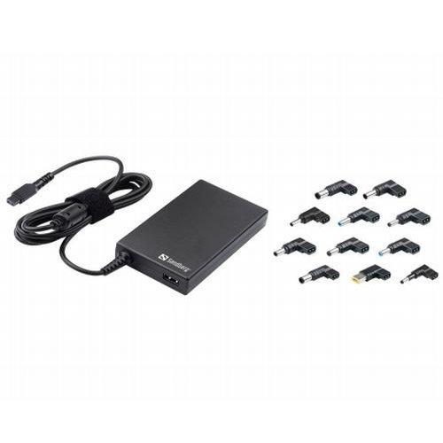 Sandberg Mini 100W Laptop PSU, 11 Adapters, Auto Switching, 5 Year Warranty