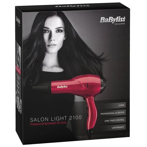 Babyliss 5568BU Salon Lightweight Ionic Hair Dryer 2100W Professional AC Motor