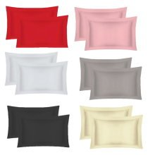 200 Thread Egyptian Cotton Oxford Pillow Case Pair Pillow in Colors