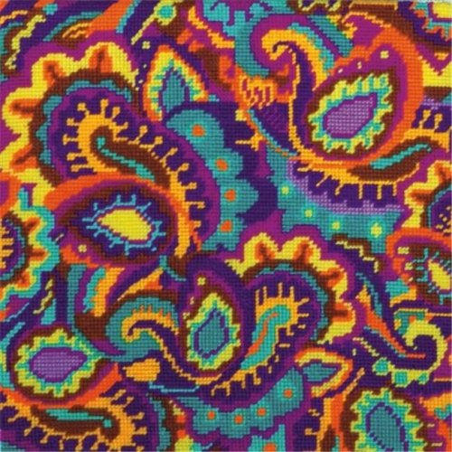 Paisley Needlepoint Kit-10 in. X10 in.