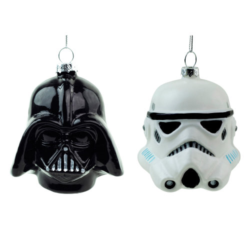 Darth Vader & Stormtrooper Star Wars Glass Christmas Tree Baubles