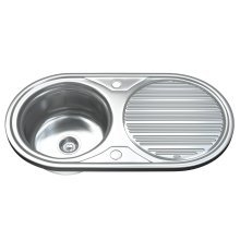 Dihl 1062 1.0 Single Bowl Stainless Steel Kitchen Sink, Drainer & Waste