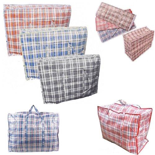 80cm x 60cm Strong Quality Storage Laundry Zipped Bag Recycled Reusable Bags