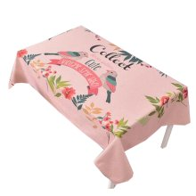 """Cotton Linen Beautiful Tablecloth Tea Table Cover Dust Cover Cloth 33.46""""x33.46"""" (Pink)"""