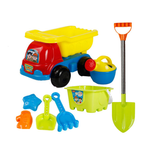 8 Piece Beach sand Toy Set, Bucket, Shovels, Rakes,Perfect for Holding Childrens' Toys