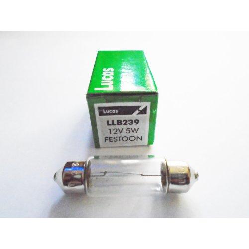 Lucas 38mm LLB239 Car Festoon Interior Number Plate Light Bulb 12v 5w