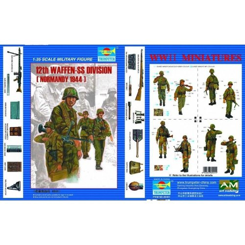 Tru00401 - Trumpeter 1:35 - Figure 12th P Anzer Division (normandy 1944)